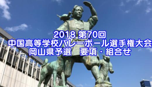 2018 第70回中国高等学校バレーボール選手権大会 岡山県予選 要項・組合せ