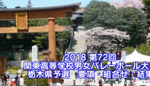 2018 第72回関東高等学校男女バレーボール大会 栃木県予選 要項・組合せ
