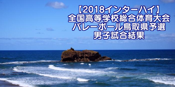 【2018インターハイ】全国高等学校総合体育大会 バレーボール鳥取県予選 男子試合結果
