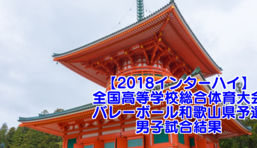 【2018インターハイ】全国高等学校総合体育大会 バレーボール和歌山県予選 男子試合結果