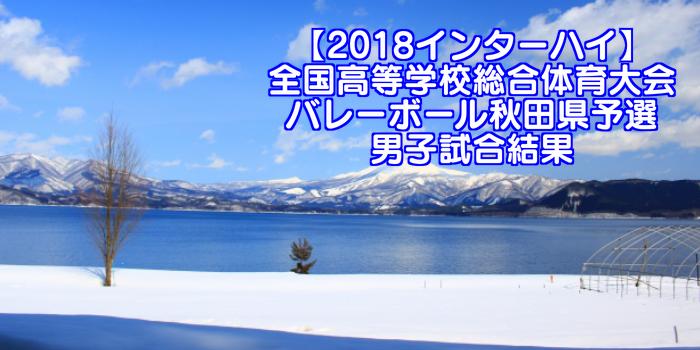 【2018インターハイ】全国高等学校総合体育大会 バレーボール秋田県予選 男子試合結果
