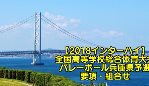 【2018インターハイ】全国高等学校総合体育大会 バレーボール兵庫県予選 要項・組合せ