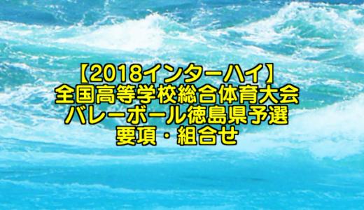 【2018インターハイ】全国高等学校総合体育大会 バレーボール徳島県予選 要項・組合せ