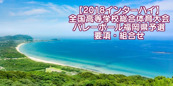 【2018インターハイ】全国高等学校総合体育大会 バレーボール福岡県予選 要項・組合せ