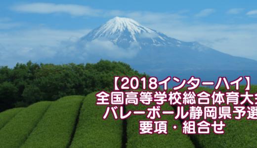 【2018インターハイ】全国高等学校総合体育大会 バレーボール静岡県予選 要項・組合せ
