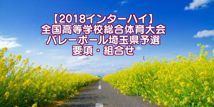 【2018インターハイ】全国高等学校総合体育大会 バレーボール埼玉県予選 要項・組合せ