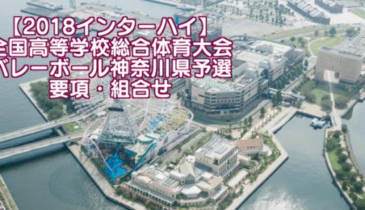 【2018インターハイ】全国高等学校総合体育大会 バレーボール神奈川県予選 要項・組合せ