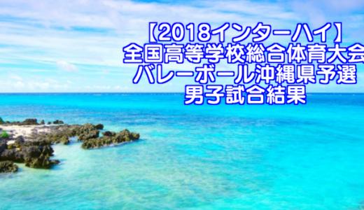 【2018インターハイ】全国高等学校総合体育大会 バレーボール沖縄県予選 男子試合結果