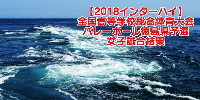 【2018インターハイ】全国高等学校総合体育大会 バレーボール徳島県予選 女子試合結果