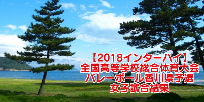 【2018インターハイ】全国高等学校総合体育大会 バレーボール香川県予選 女子試合結果