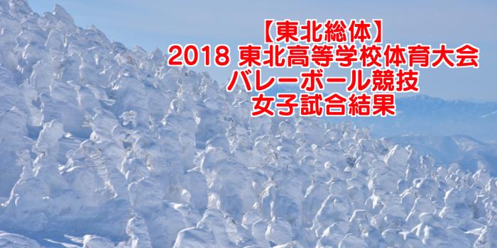 【東北総体】2018 東北高等学校体育大会バレーボール競技 女子試合結果