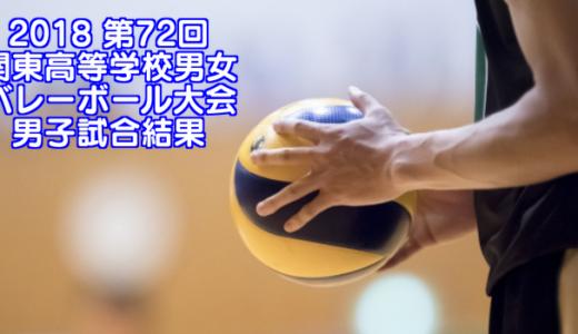 2018 第72回関東高等学校男女バレーボール大会 男子試合結果