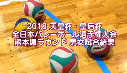 2018 天皇杯・皇后杯全日本バレーボール選手権大会 熊本県ラウンド 男女試合結果