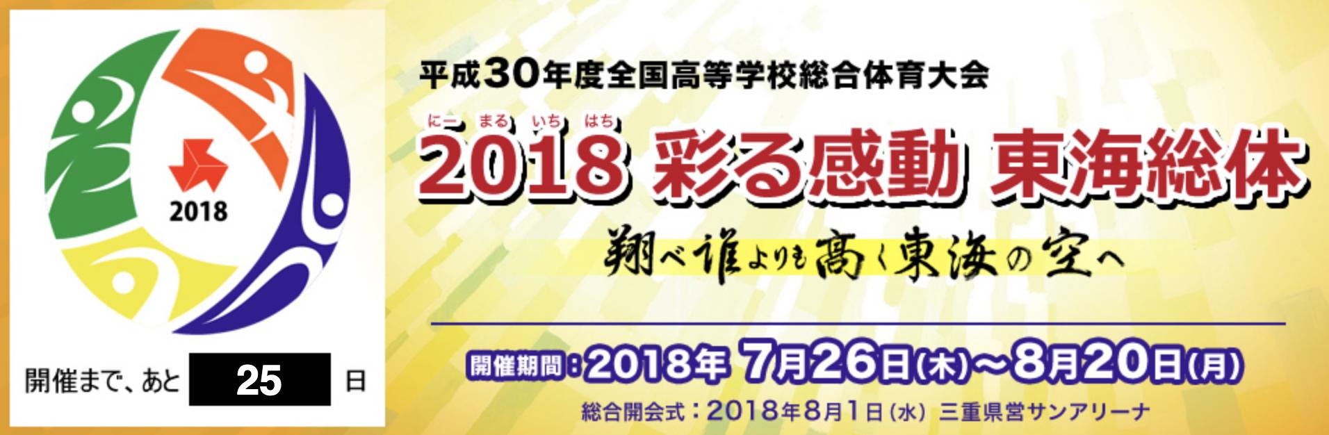【2018インターハイ】全国高等学校総合体育大会 男女バレーボール 要項・組合せ