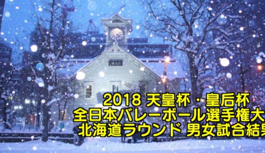 2018 天皇杯・皇后杯全日本バレーボール選手権大会 北海道ラウンド 男女試合結果