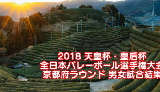 2018 天皇杯・皇后杯全日本バレーボール選手権大会 京都府ラウンド 男女試合結果