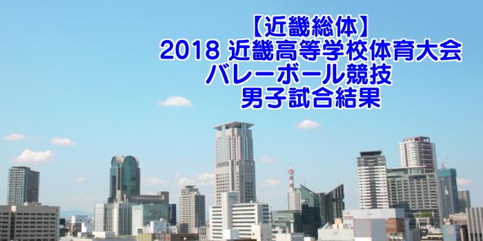 【近畿総体】2018 近畿高等学校体育大会バレーボール競技 男子試合結果