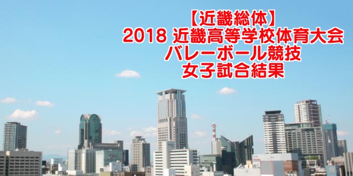 【近畿総体】2018 近畿高等学校体育大会バレーボール競技 女子試合結果