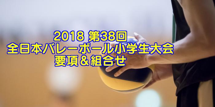2018 第38回全日本バレーボール小学生大会 要項&組合せ