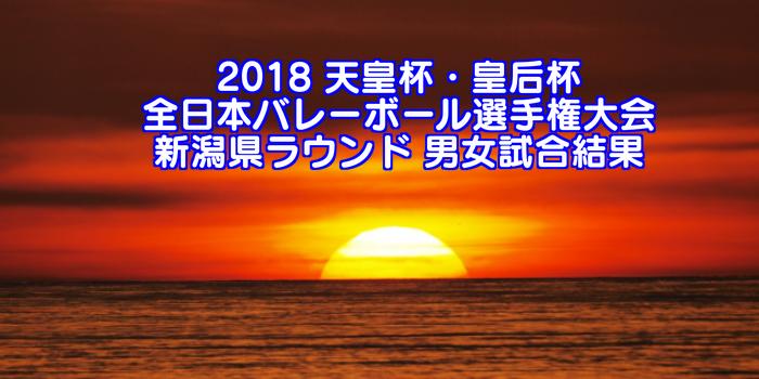 2018 天皇杯・皇后杯全日本バレーボール選手権大会 新潟県ラウンド 男女試合結果
