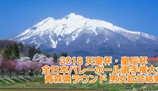 2018 天皇杯・皇后杯全日本バレーボール選手権大会 青森県ラウンド 男女試合結果