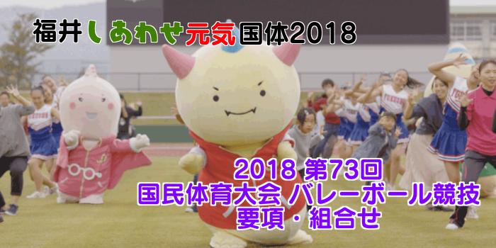2018 第73回国民体育大会 バレーボール競技 要項・組合せ