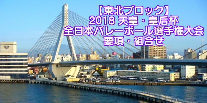 【東北ブロック】2018 天皇・皇后杯 全日本バレーボール選手権大会 要項・組合せ