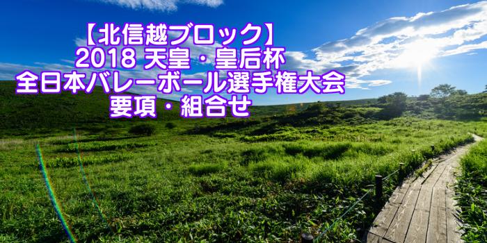 【北信越ブロック】2018 天皇・皇后杯 全日本バレーボール選手権大会 要項・組合せ