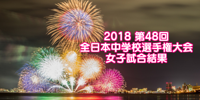 2018 第48回全日本中学校選手権大会 女子試合結果