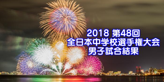 2018 第48回全日本中学校選手権大会 男子試合結果