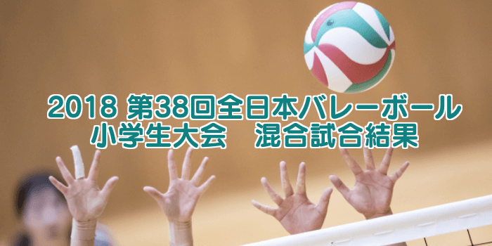 2018 第38回全日本バレーボール小学生大会 混合試合結果