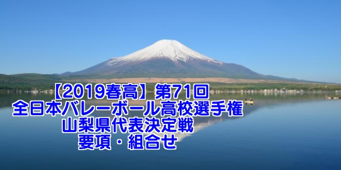 【2019春高】第71回全日本バレーボール高校選手権 山梨県代表決定戦 要項・組合せ