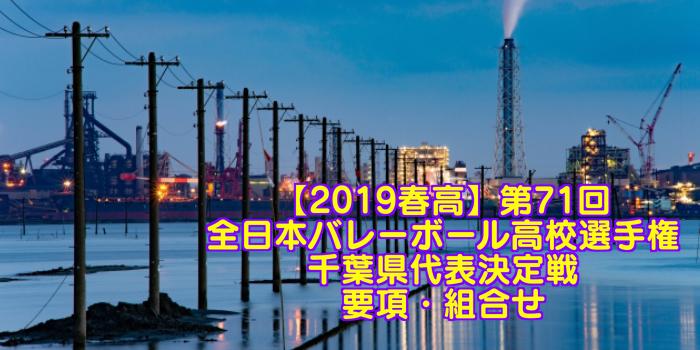 【2019春高】第71回全日本バレーボール高校選手権 千葉県代表決定戦 要項・組合せ