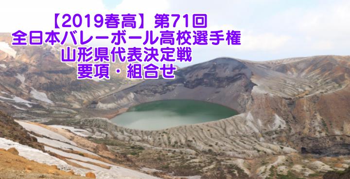 【2019春高】第71回全日本バレーボール高校選手権 山形県代表決定戦 要項・組合せ
