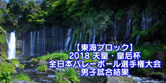 【東海ブロック】2018 天皇・皇后杯 全日本バレーボール選手権大会 男子試合結果