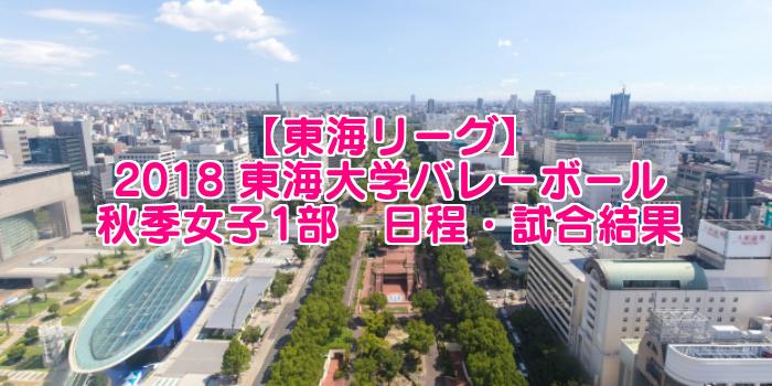 【東海リーグ】2018 東海大学バレーボール秋季女子1部 日程・試合結果