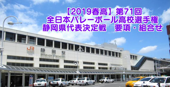 【2019春高】第71回全日本バレーボール高校選手権 静岡県代表決定戦 要項・組合せ
