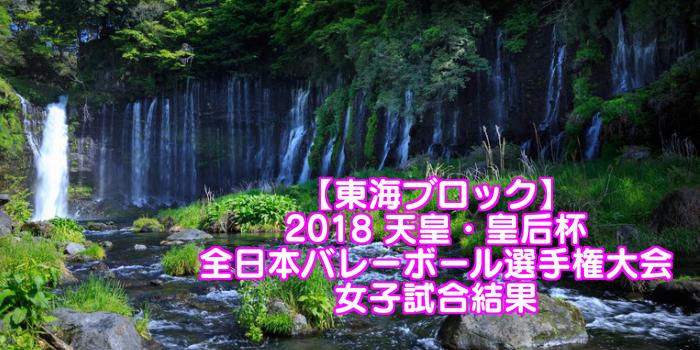 【東海ブロック】2018 天皇・皇后杯 全日本バレーボール選手権大会 女子試合結果