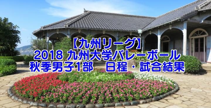 【九州リーグ】2018 九州大学バレーボール秋季男子1部 日程・試合結果
