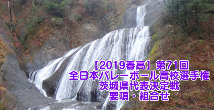 【2019春高】第71回全日本バレーボール高校選手権 茨城県代表決定戦 要項・組合せ