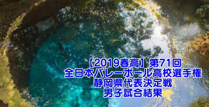 【2019春高】第71回全日本バレーボール高校選手権 静岡県代表決定戦 男子試合結果