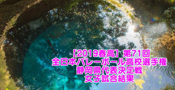 【2019春高】第71回全日本バレーボール高校選手権 静岡県代表決定戦 女子試合結果