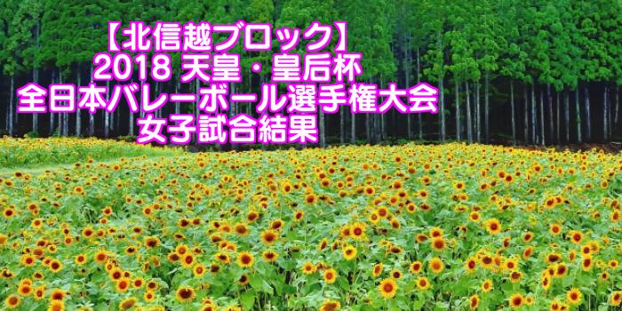 【北信越ブロック】2018 天皇・皇后杯 全日本バレーボール選手権大会 女子試合結果