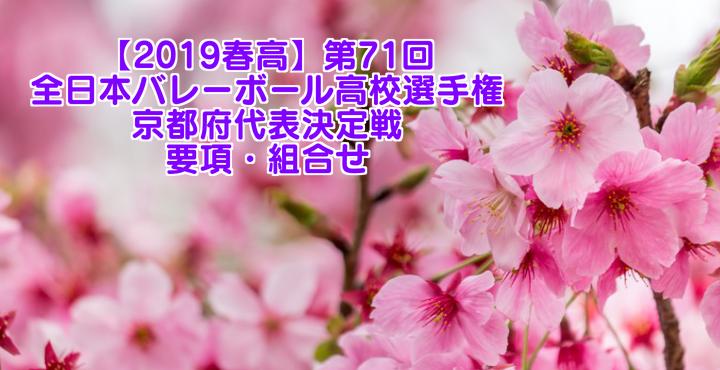 【2019春高】第71回全日本バレーボール高校選手権 京都府代表決定戦 要項・組合せ