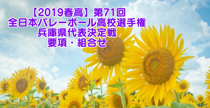 【2019春高】第71回全日本バレーボール高校選手権 兵庫県代表決定戦 要項・組合せ