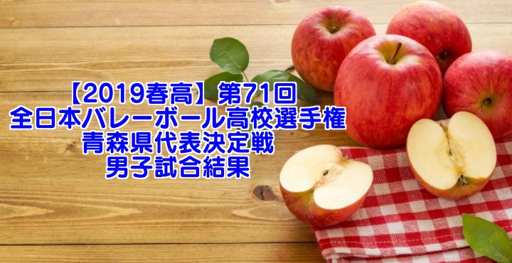 【2019春高】第71回全日本バレーボール高校選手権 青森県代表決定戦 男子試合結果