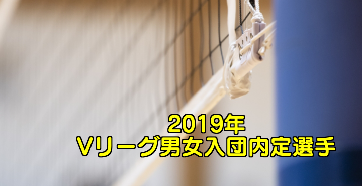 2019年 Vリーグ男女入団内定選手