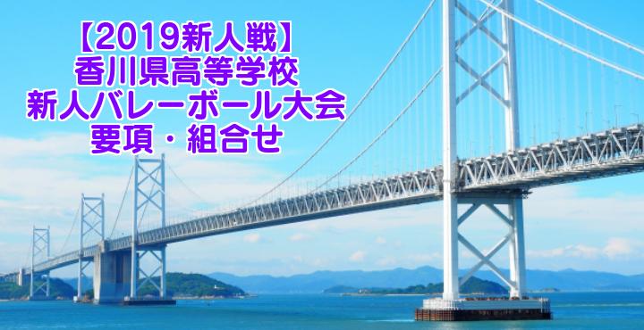 【2019新人戦】香川県高等学校新人バレーボール大会 要項・組合せ