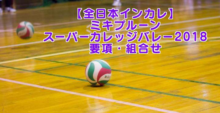 【全日本インカレ】ミキプルーンスーパーカレッジバレー2018 要項・組合せ