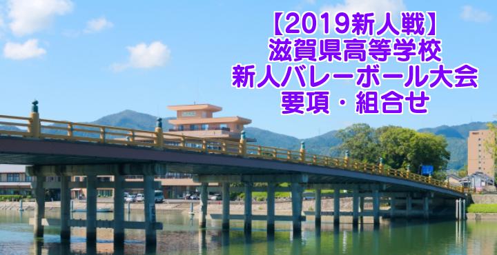 【2019新人戦】滋賀県高等学校新人バレーボール大会 要項・組合せ